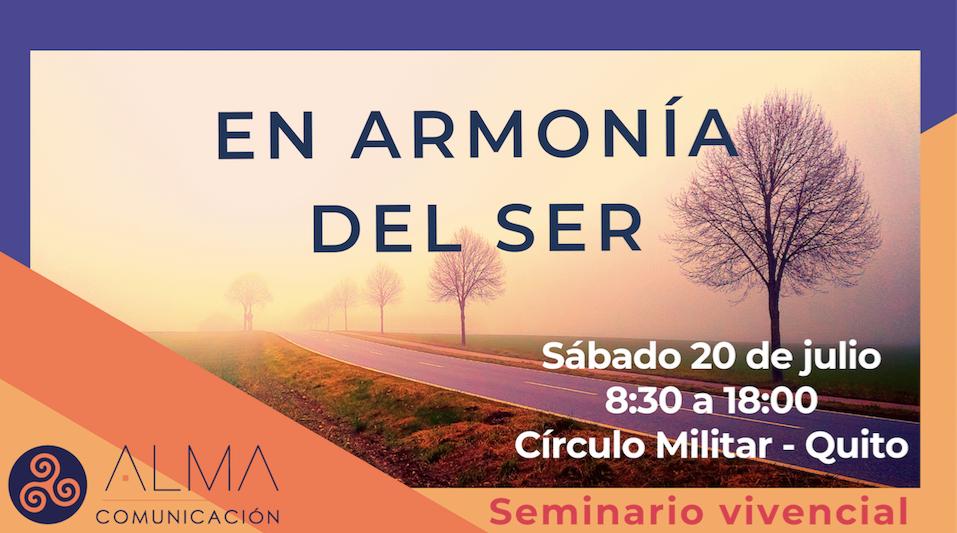 EN ARMONIA DEL SER - SEMINARIO VIVENCIAL en QUITO, BuenPlan