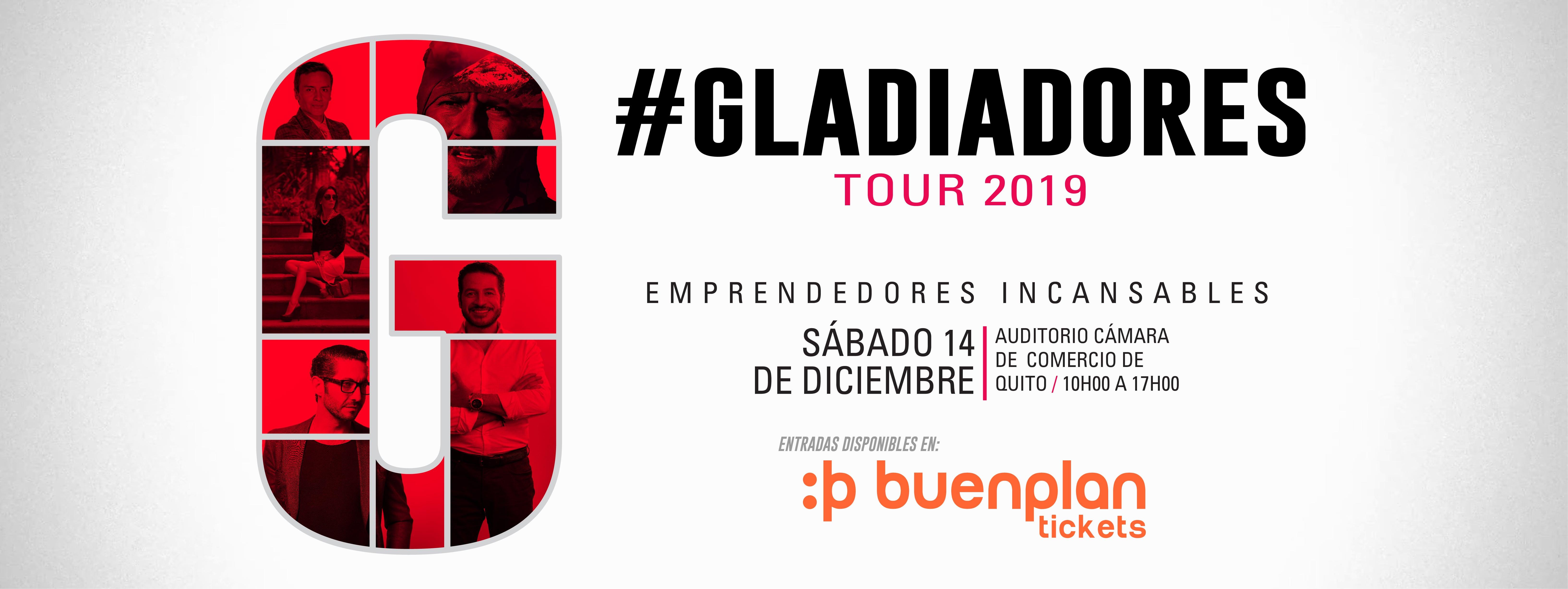 Gladiadores Tour 2019 en Quito, BuenPlan