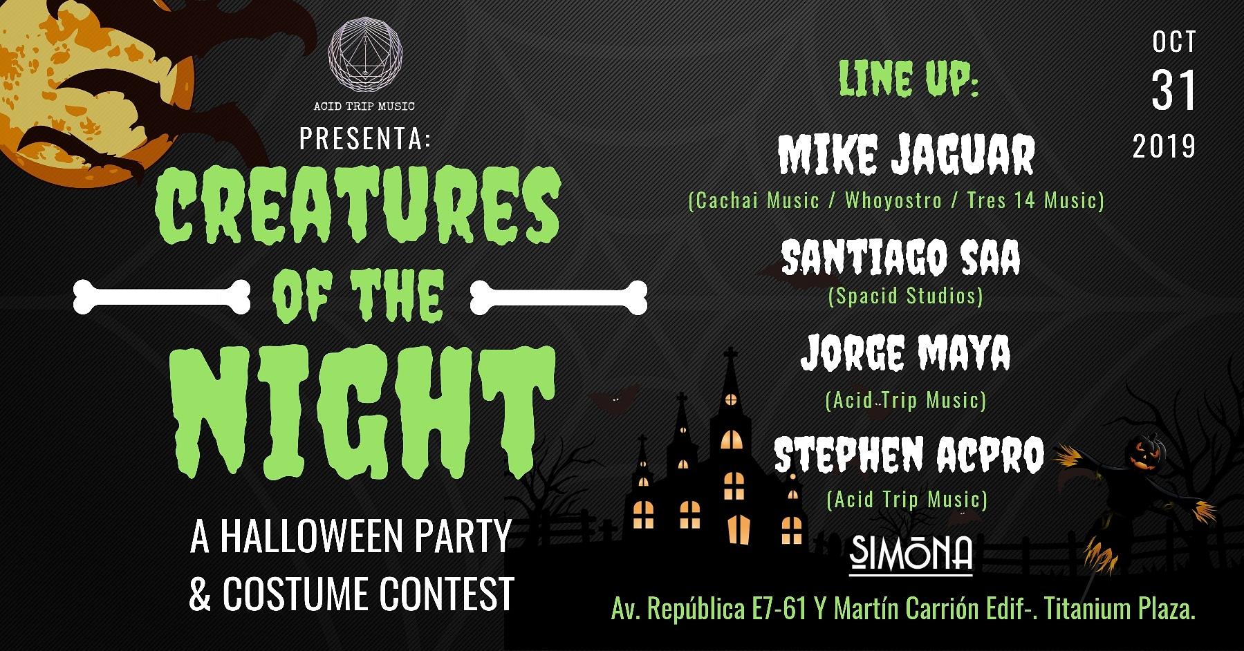 CREATURES OF THE NIGHT ft. Mike Jaguar en Quito , BuenPlan