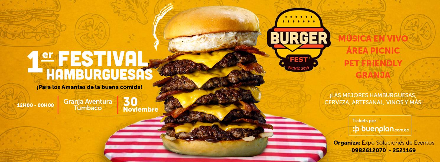 Burger Fest Ecuador 2019  en Tumbaco, BuenPlan