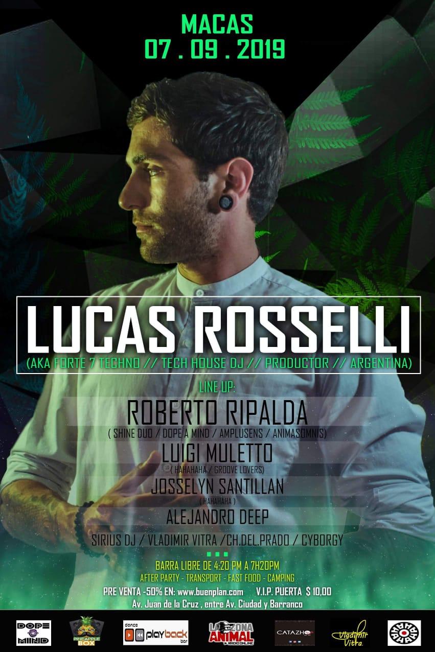 PineappleBox Ft LineUp & PlayBack Disco Pres Lucas Rosselli(Arg) en Macas, BuenPlan