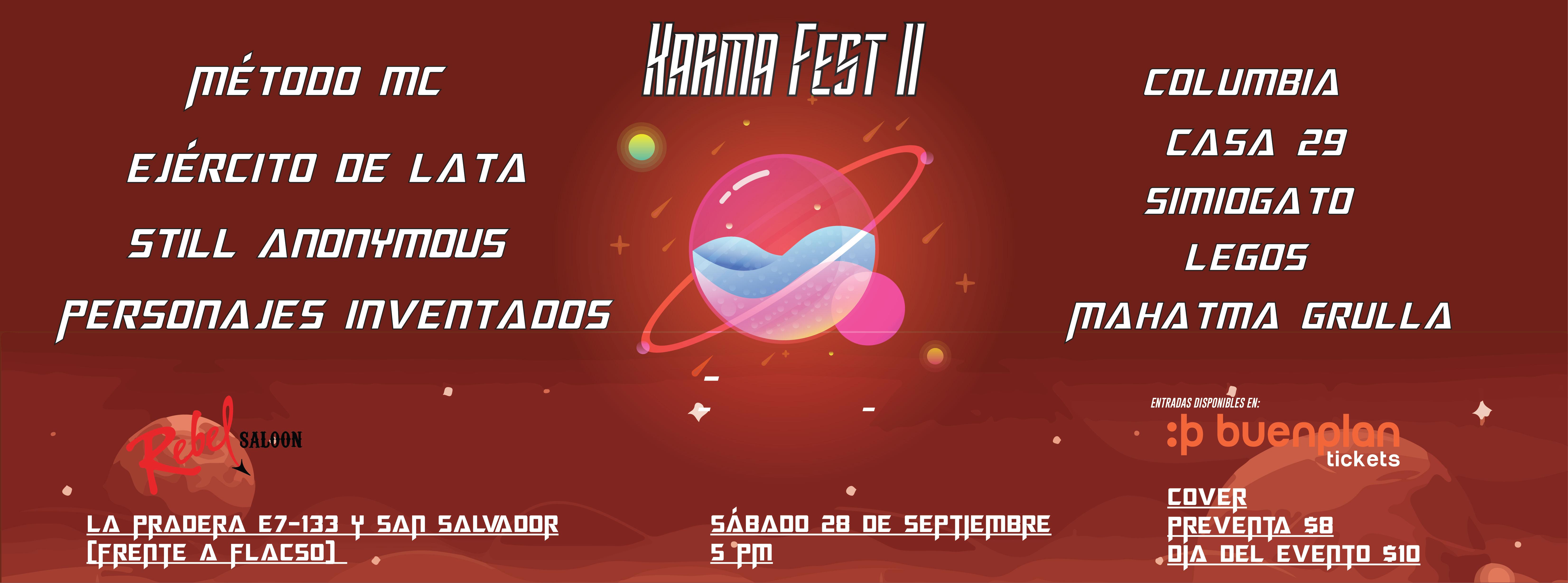 Karma Fest II en Quito, BuenPlan