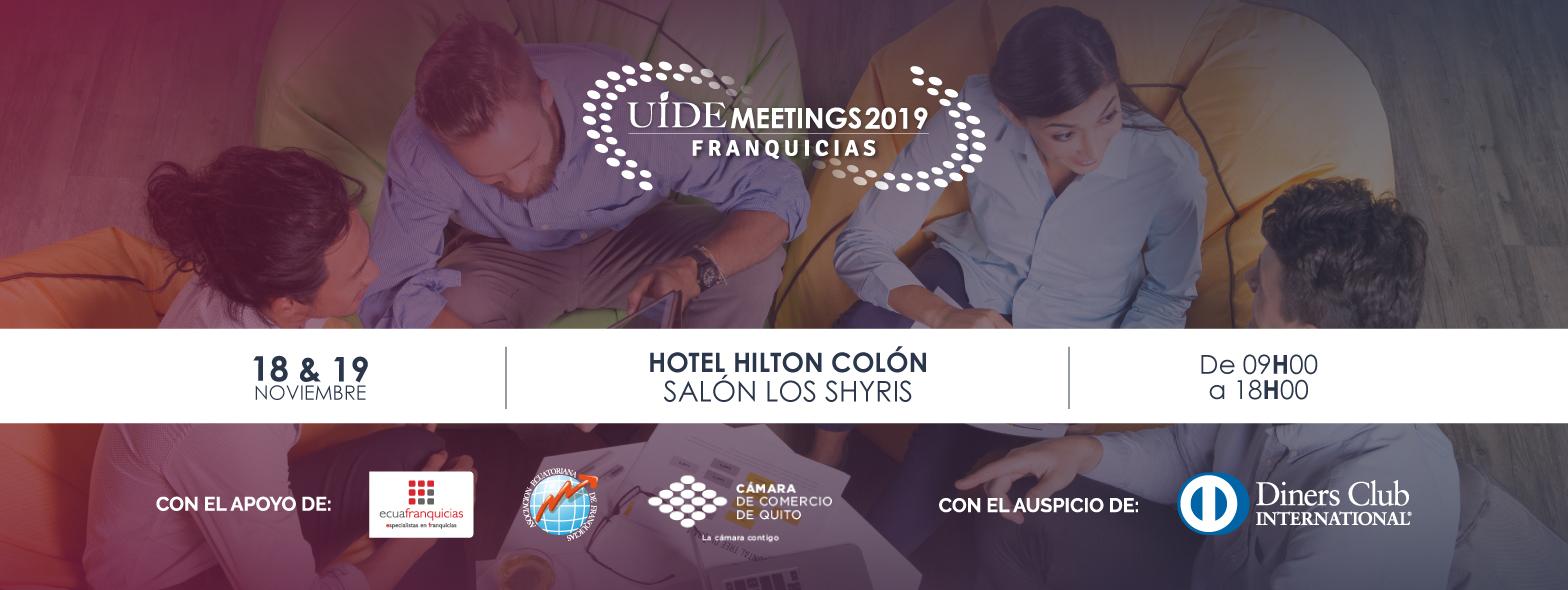 UIDE MEETINGS 2019 – FRANQUICIAS en Quito, BuenPlan