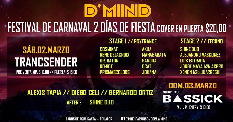 D'Mind Paradise Present: Festival 2 Días De Carnaval en undefined, BuenPlan